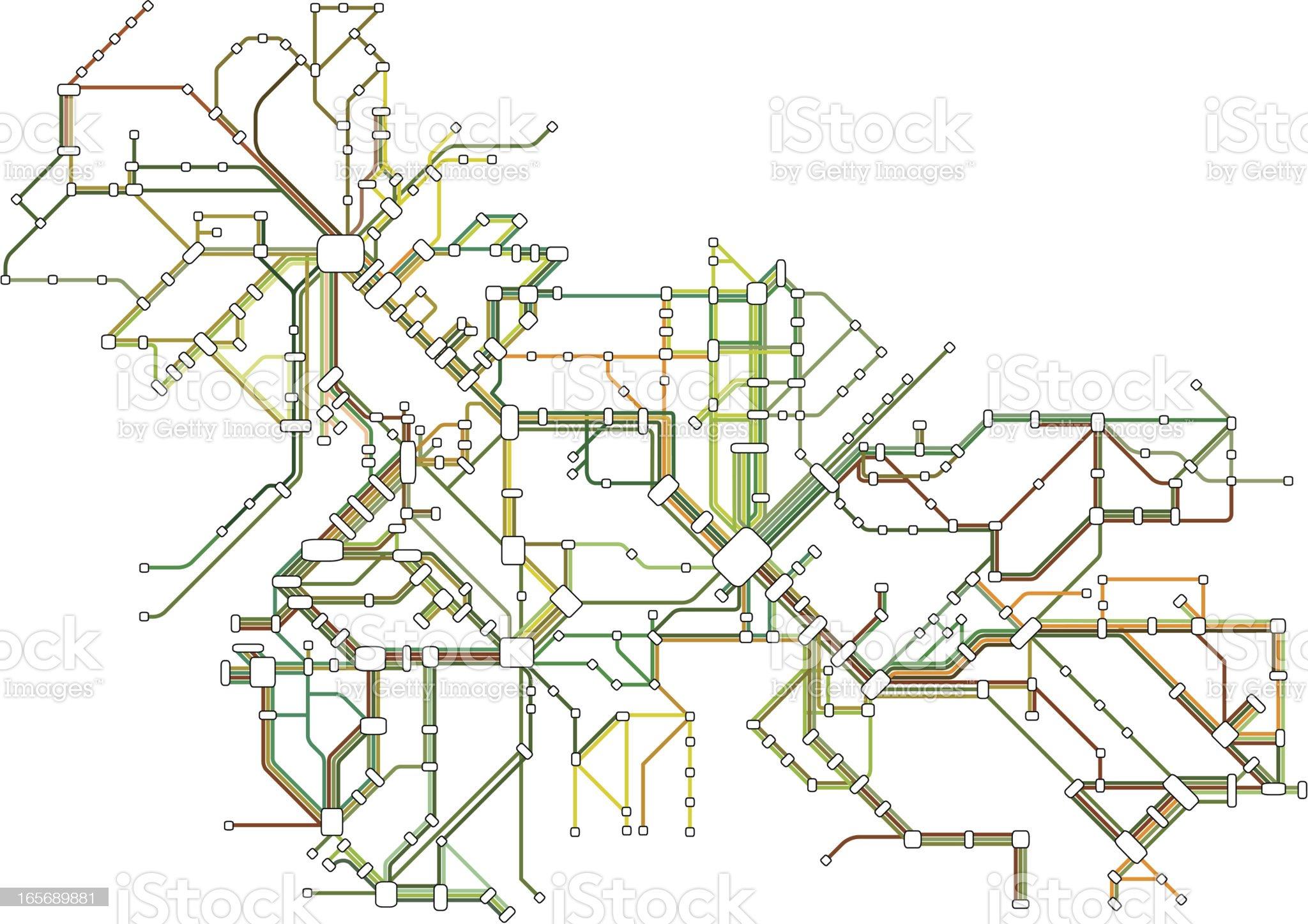 Subway Map royalty-free stock vector art