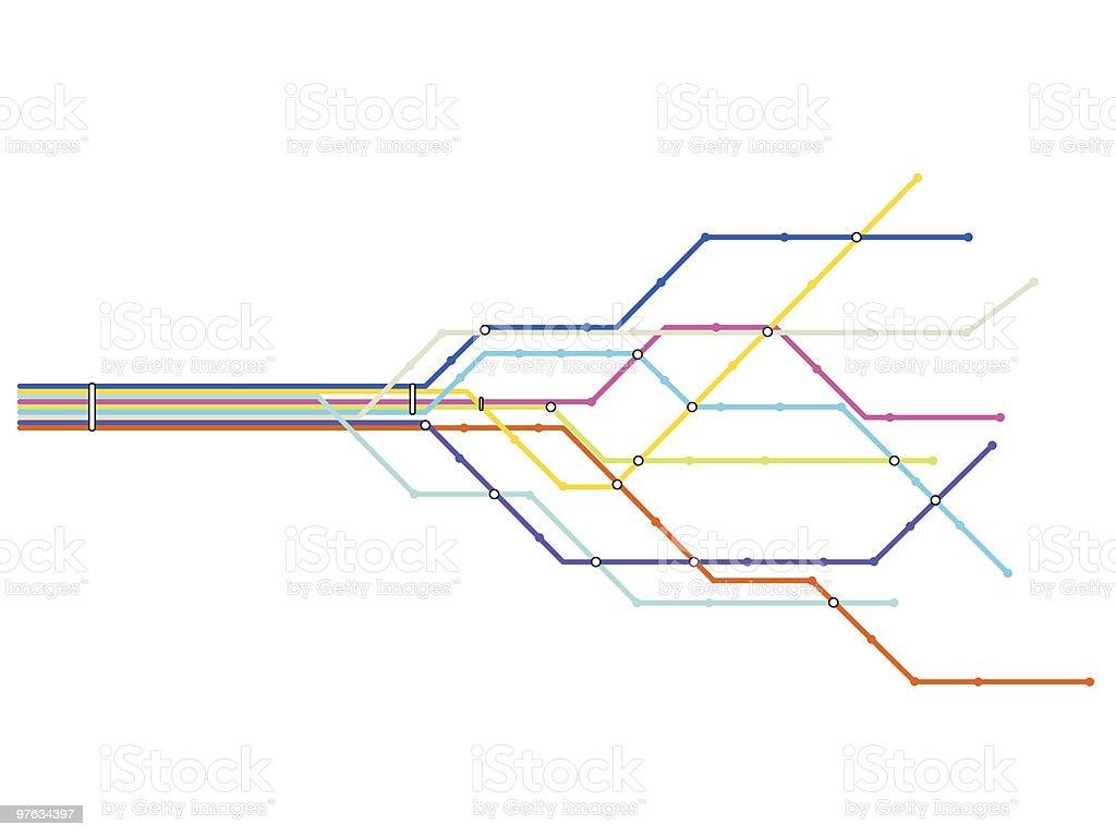 Subway map vector art illustration