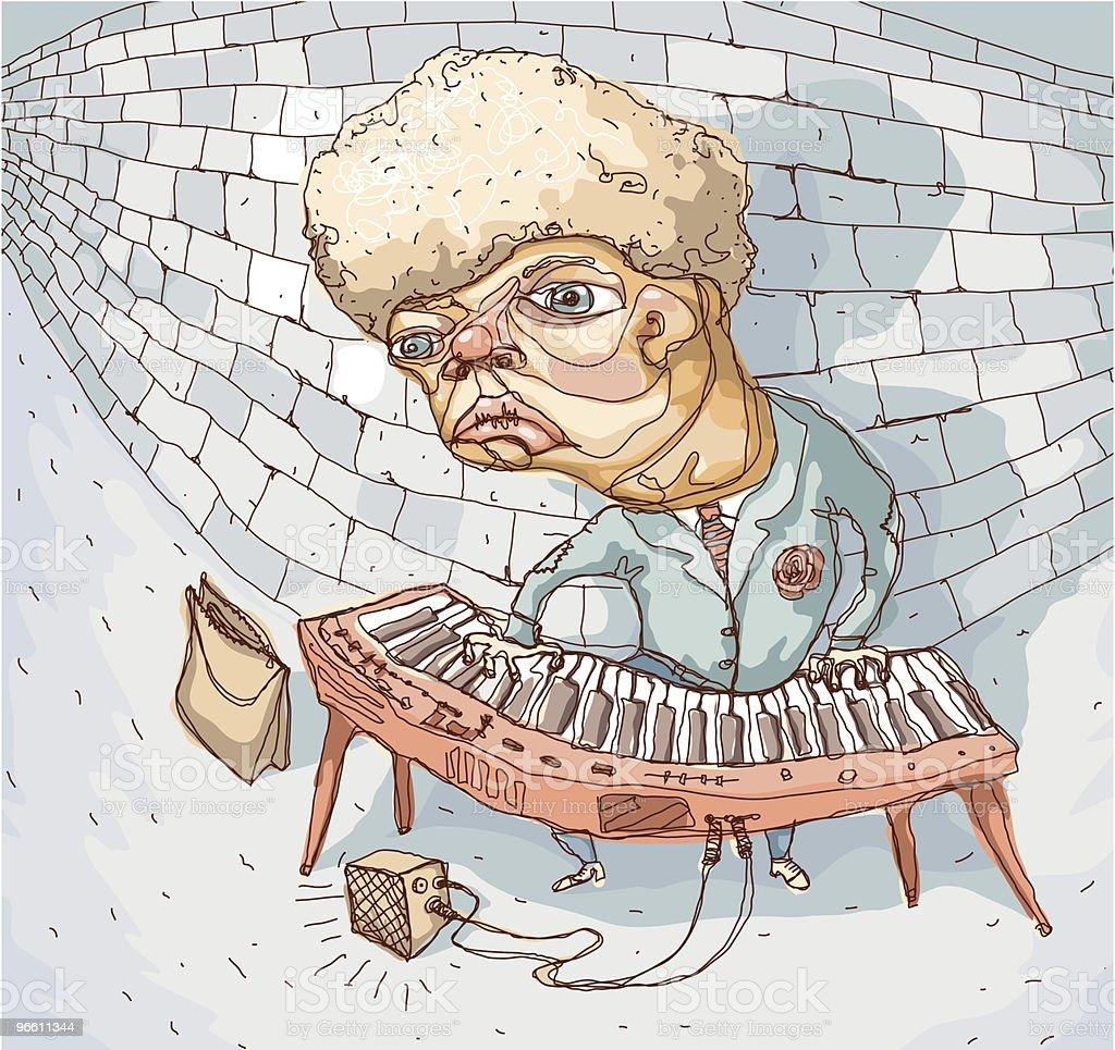 Subway Musician vector art illustration