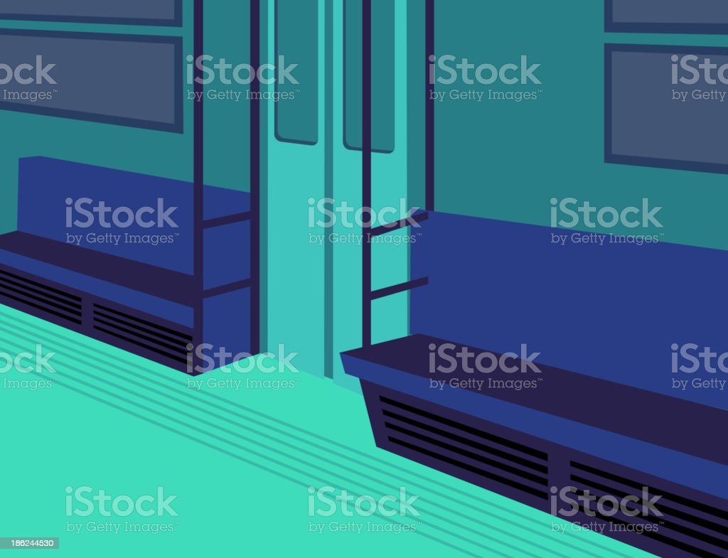 Subway train Interior royalty-free stock vector art