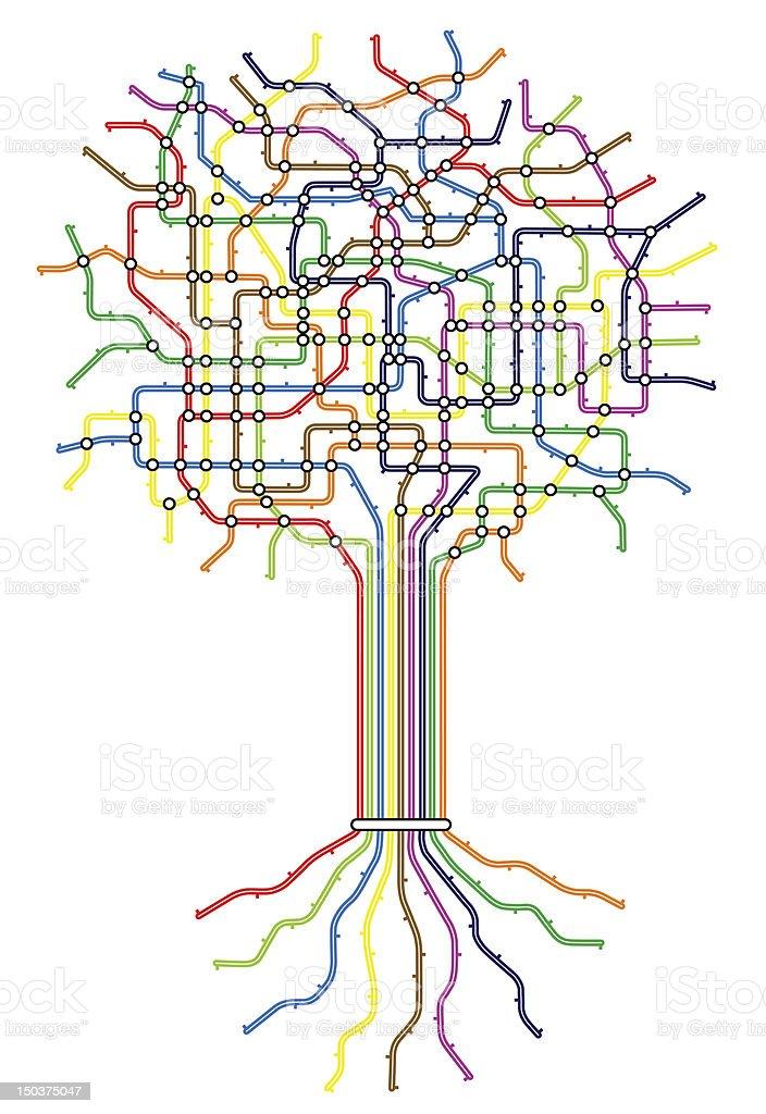 Subway tree vector art illustration