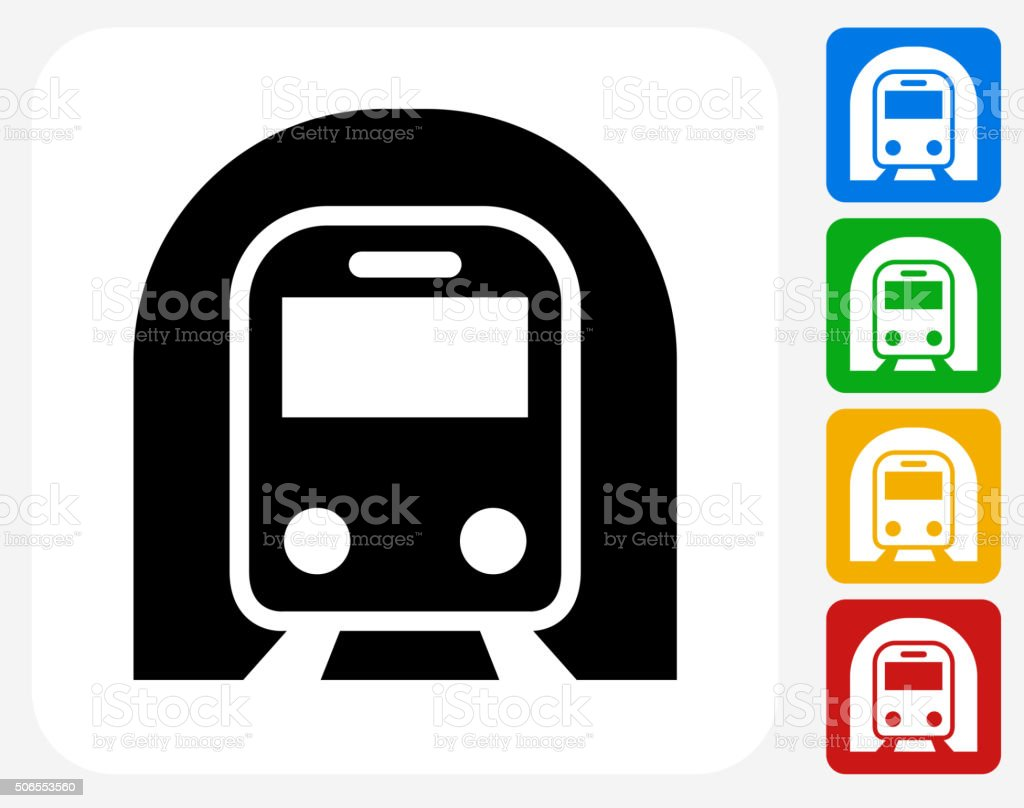 Subway Tunnel Icon Flat Graphic Design vector art illustration