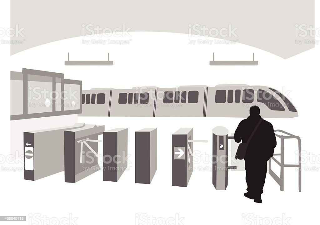 SubwayEntrance vector art illustration