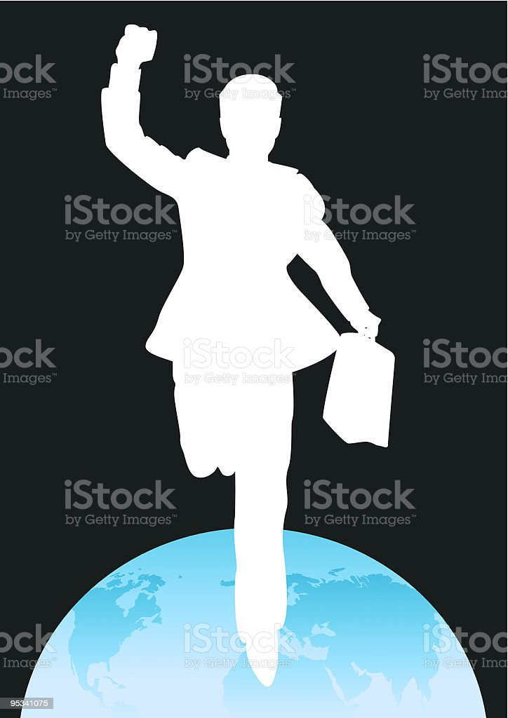 Succesfull Businessman Silhouette royalty-free stock vector art