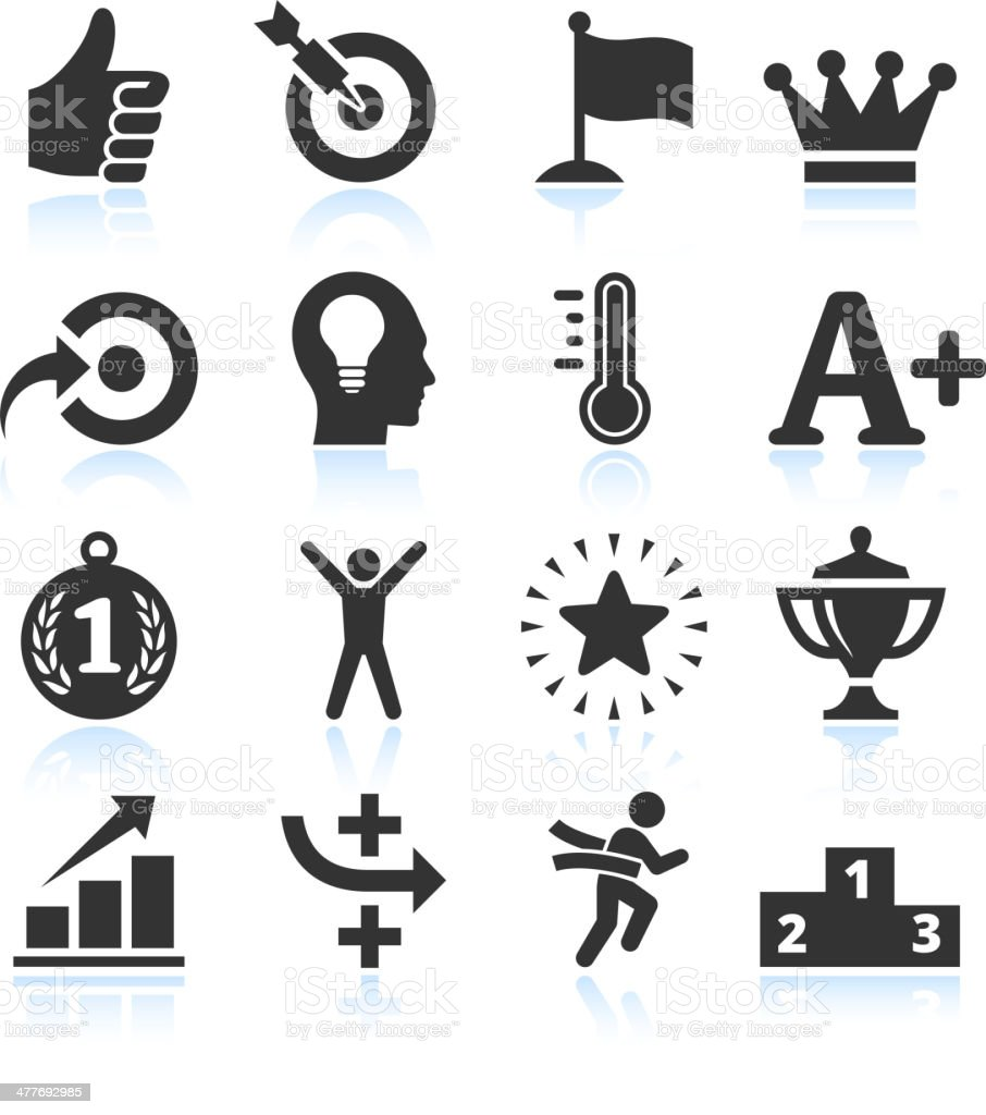 Success & Achievement Black and White royalty free vector arts vector art illustration
