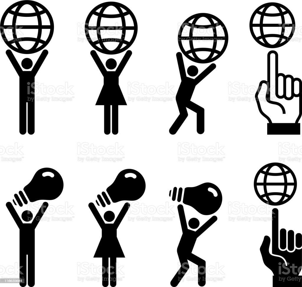 success and achievement concepts vector art illustration
