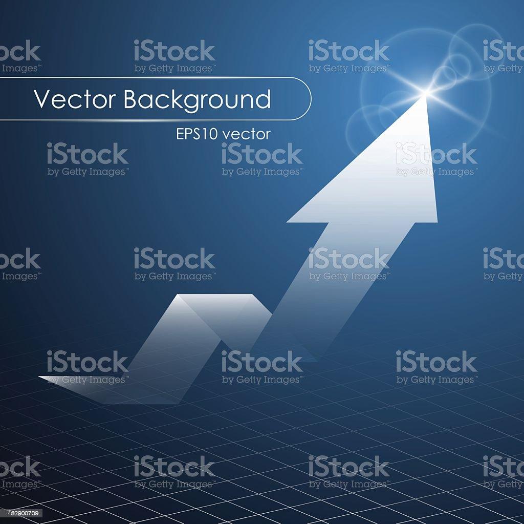 Success arrow up vector art illustration