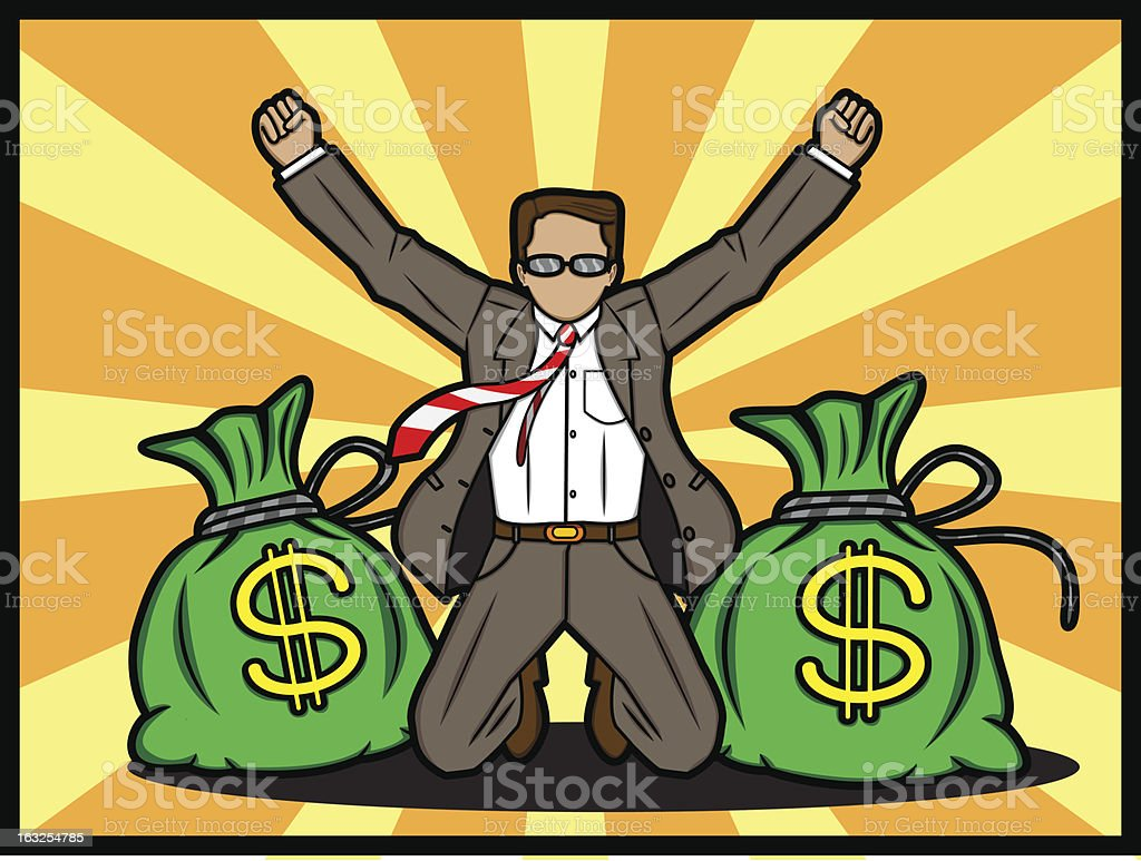 Success Businessman royalty-free stock vector art
