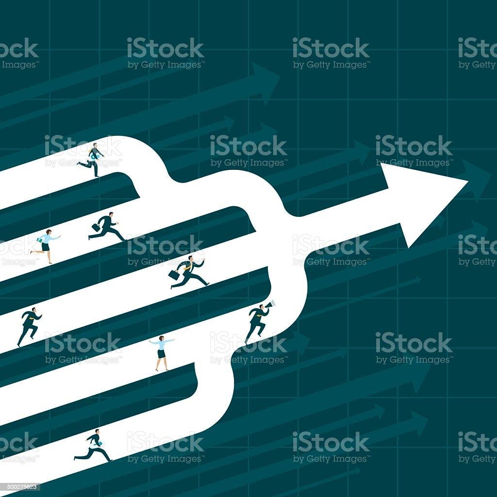 Success Concept vector art illustration