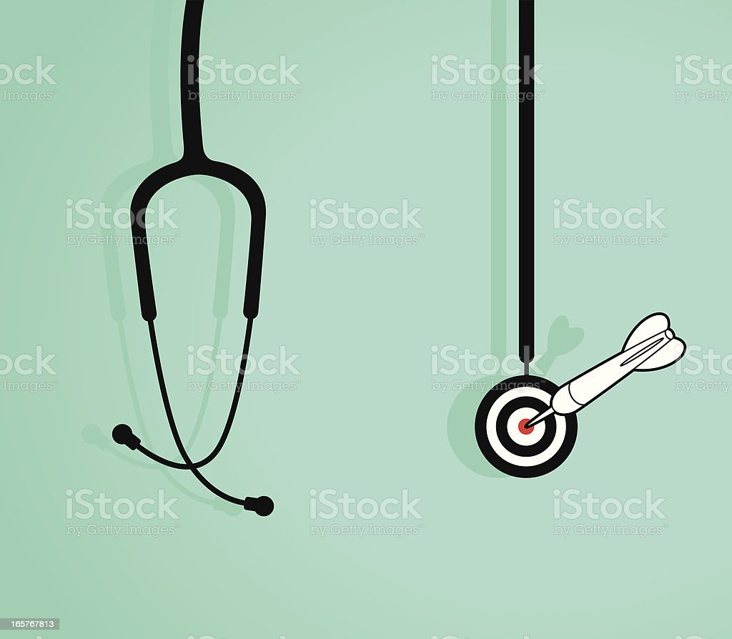 Success Diagnosis royalty-free stock vector art