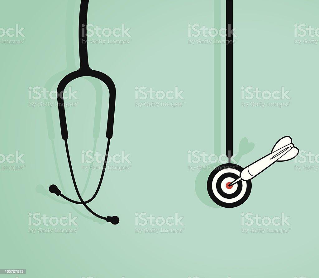 Success Diagnosis vector art illustration