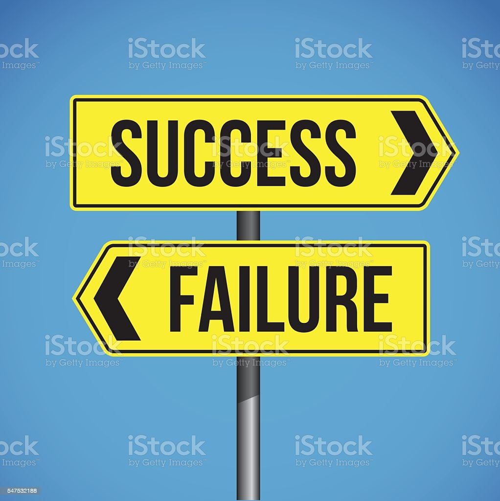 Success Failure Sign vector vector art illustration