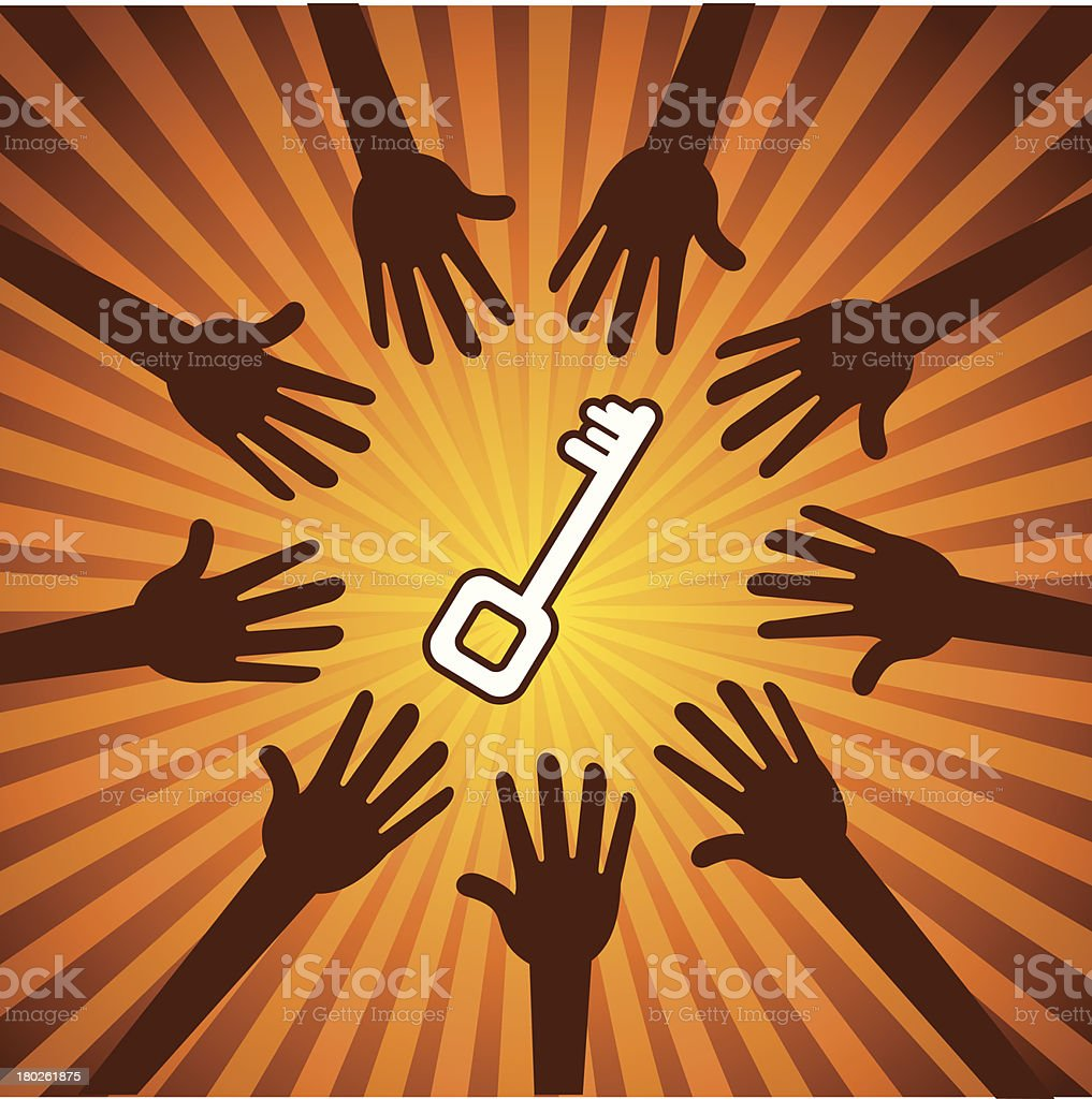 success key royalty-free stock vector art