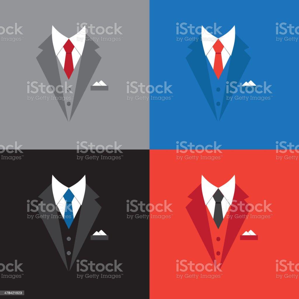 success leader concept, businessman suit illustration vector art illustration