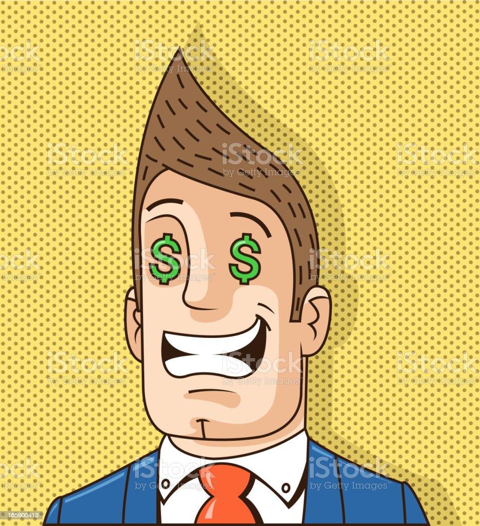 success man vector art illustration