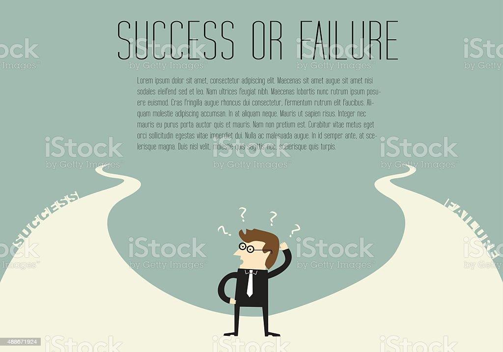 Success or Failure vector art illustration