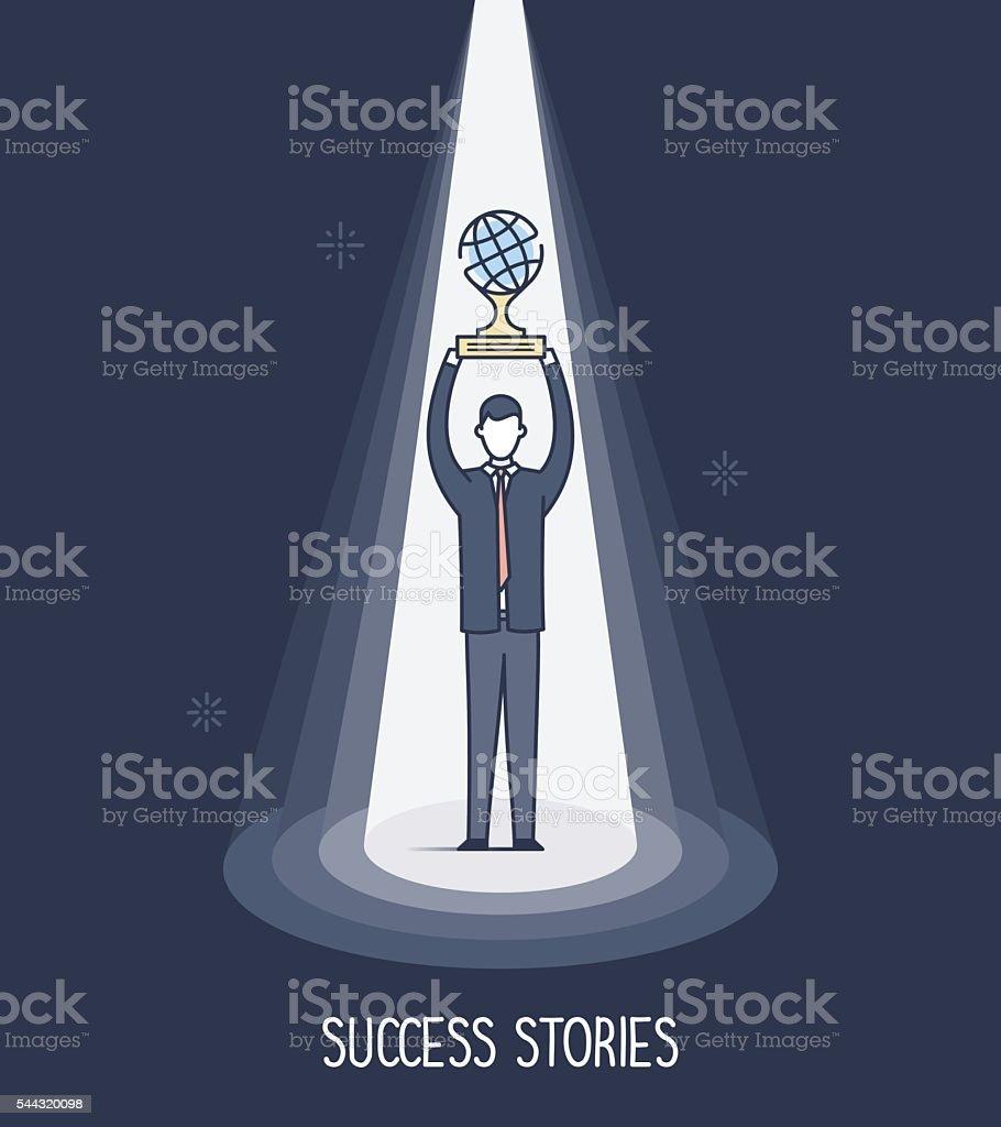 Success Stories vector art illustration