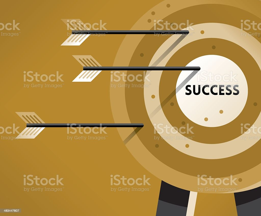 Success Target vector art illustration