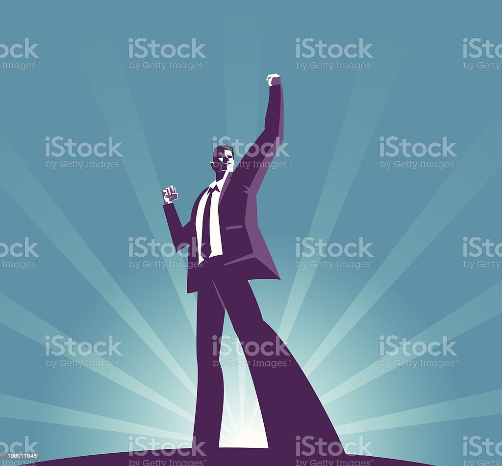 Success vector art illustration