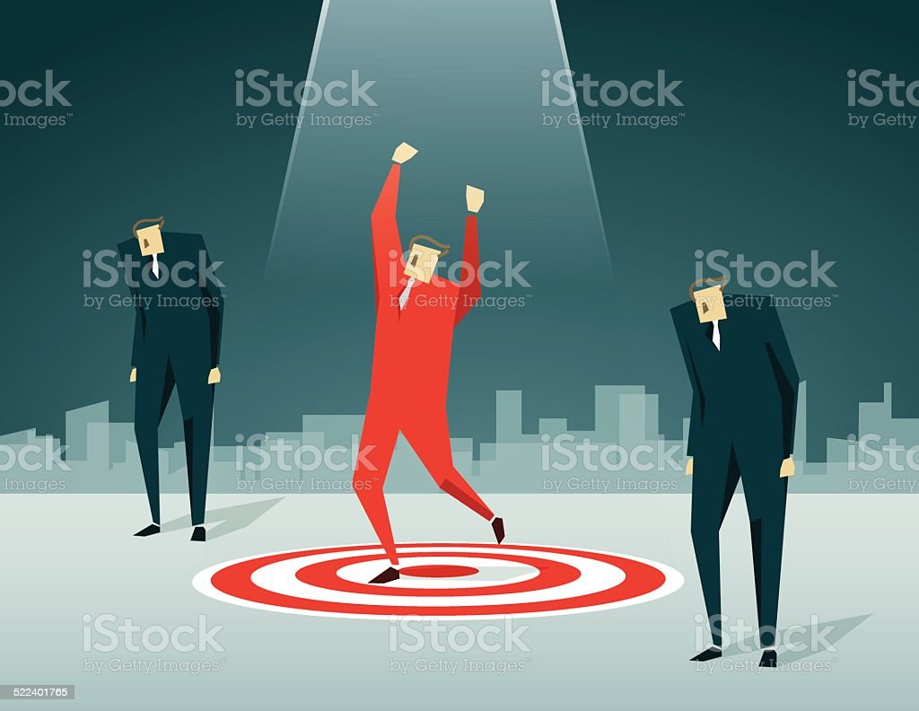 Success,Championship, Victory, Standing Out From The Crowd vector art illustration