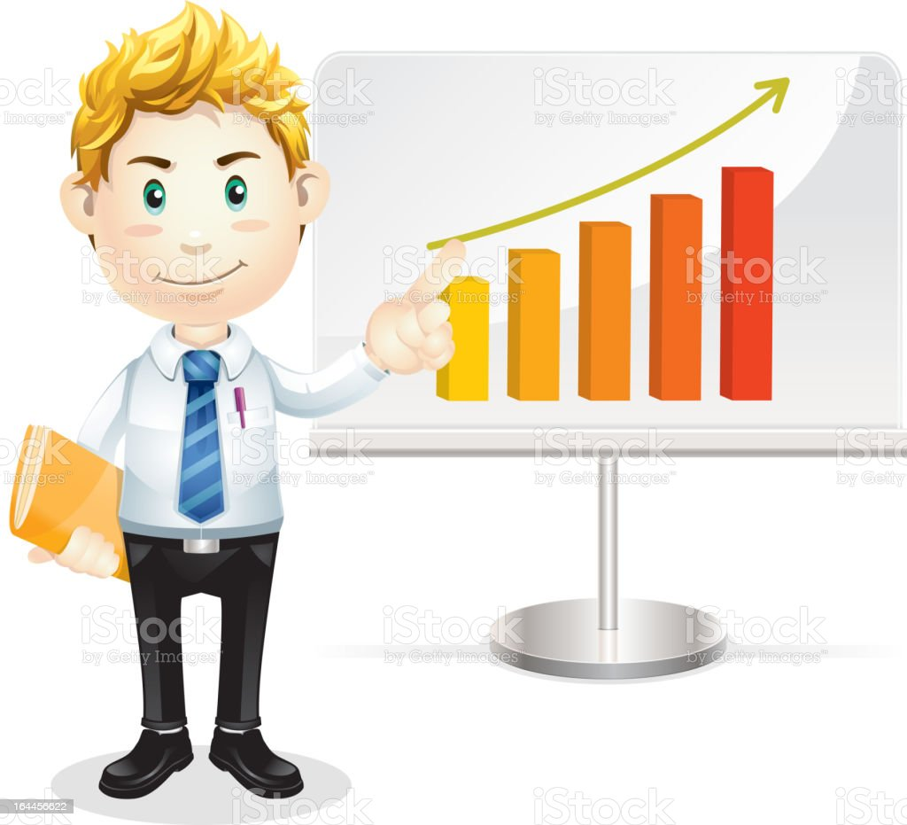 Successful business man. Cartoon character. royalty-free stock vector art