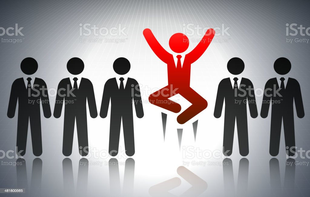 Successful Business Man Concept Stick Figure royalty-free stock vector art