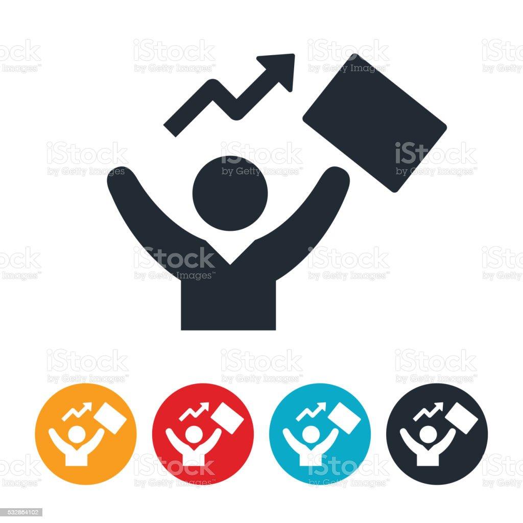 Successful Business Person Icon vector art illustration