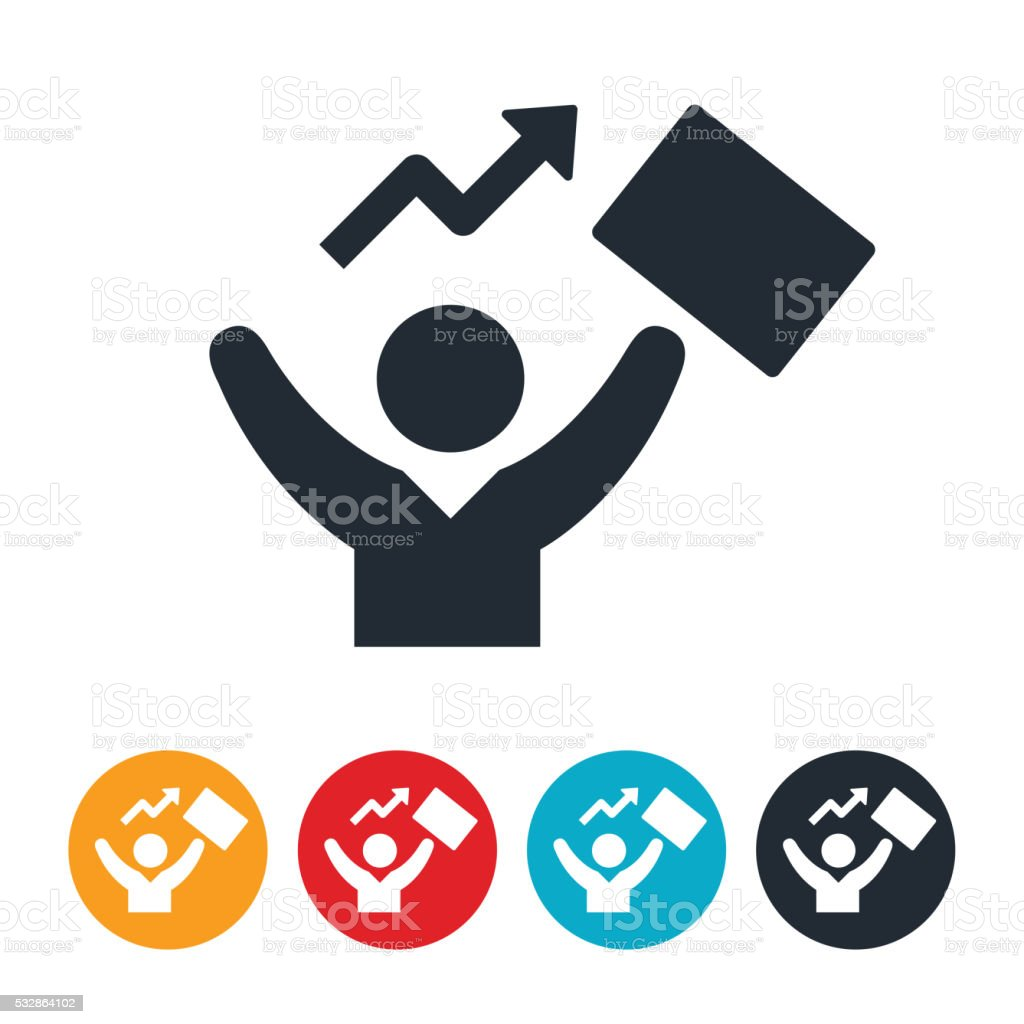 Successful Business Person Icon vector art illustration