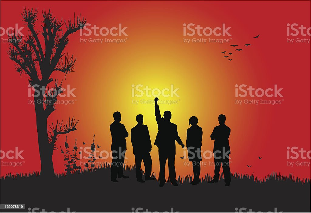 Successful business team royalty-free stock vector art