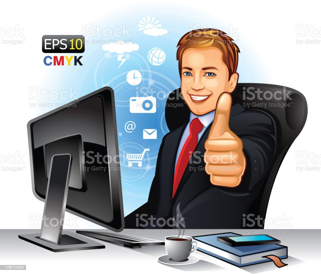 Successful businessman royalty-free stock vector art