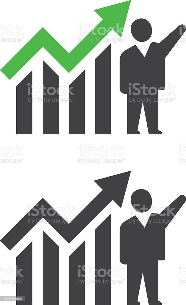 Successful Businessman vector art illustration