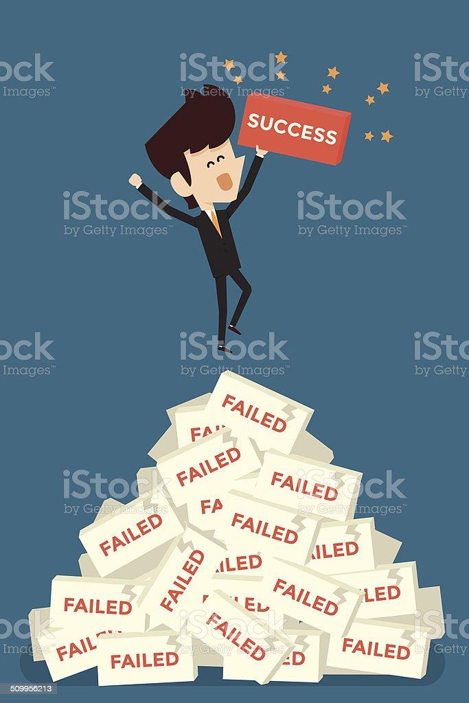 Successful businessman. vector art illustration