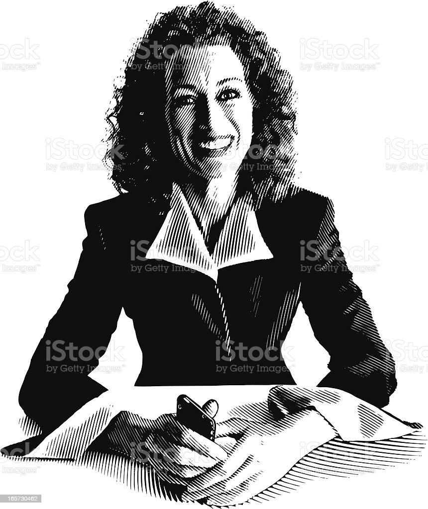 Successful Businesswoman royalty-free stock vector art