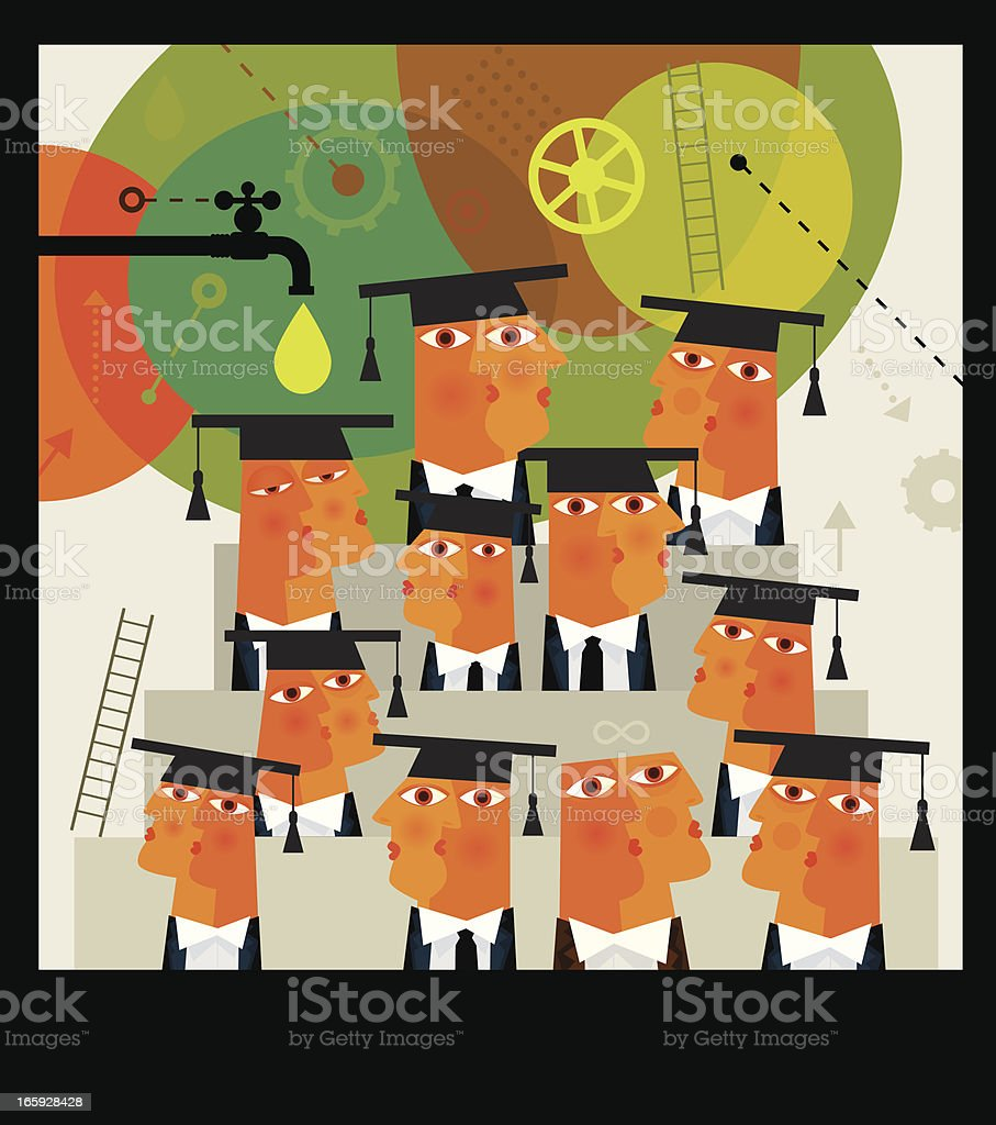 Successful Class Photo royalty-free stock vector art