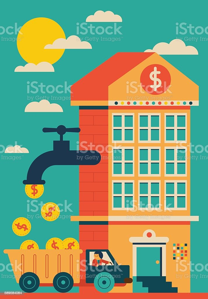 Successful Investment vector art illustration