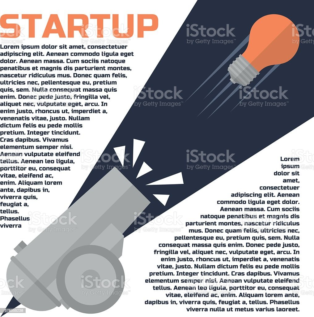 Successful start up concept. vector art illustration