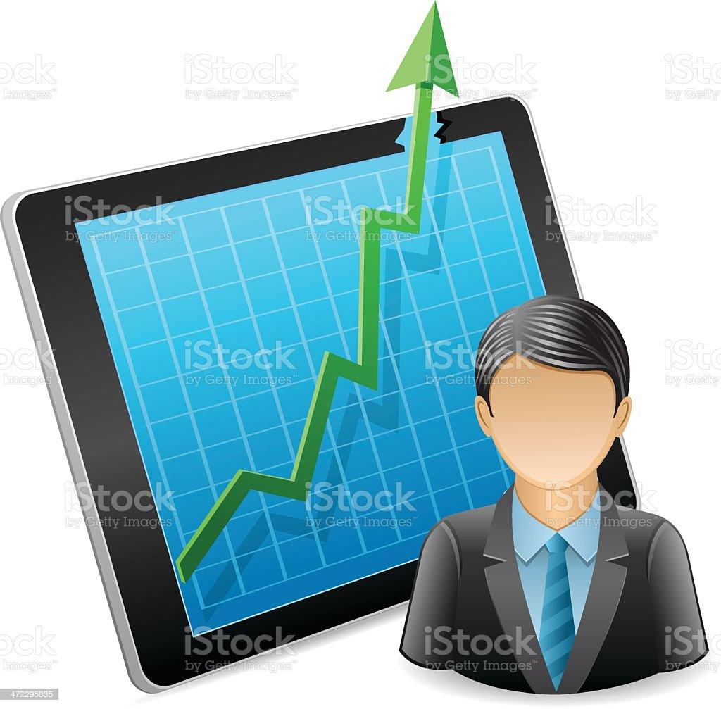 Successful work royalty-free stock vector art
