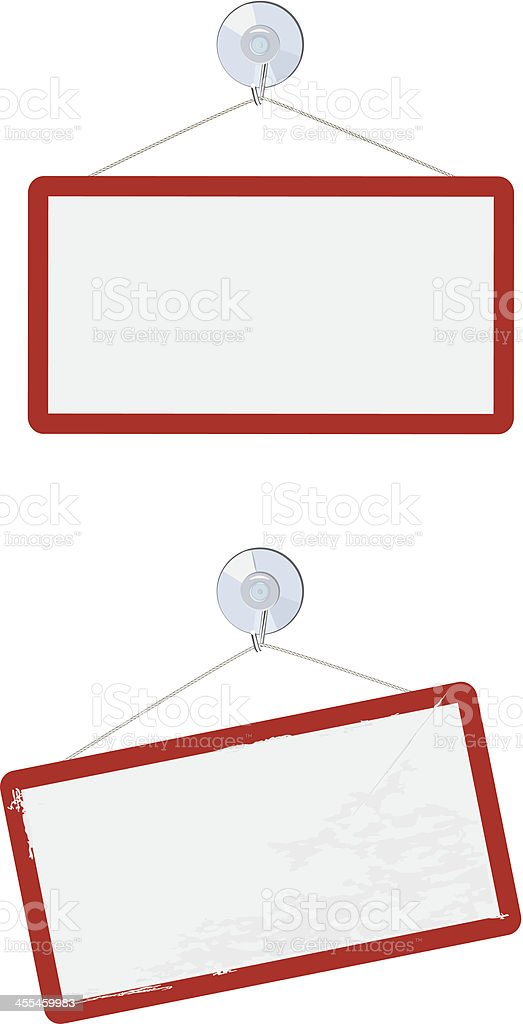 Suction cup signs royalty-free stock vector art