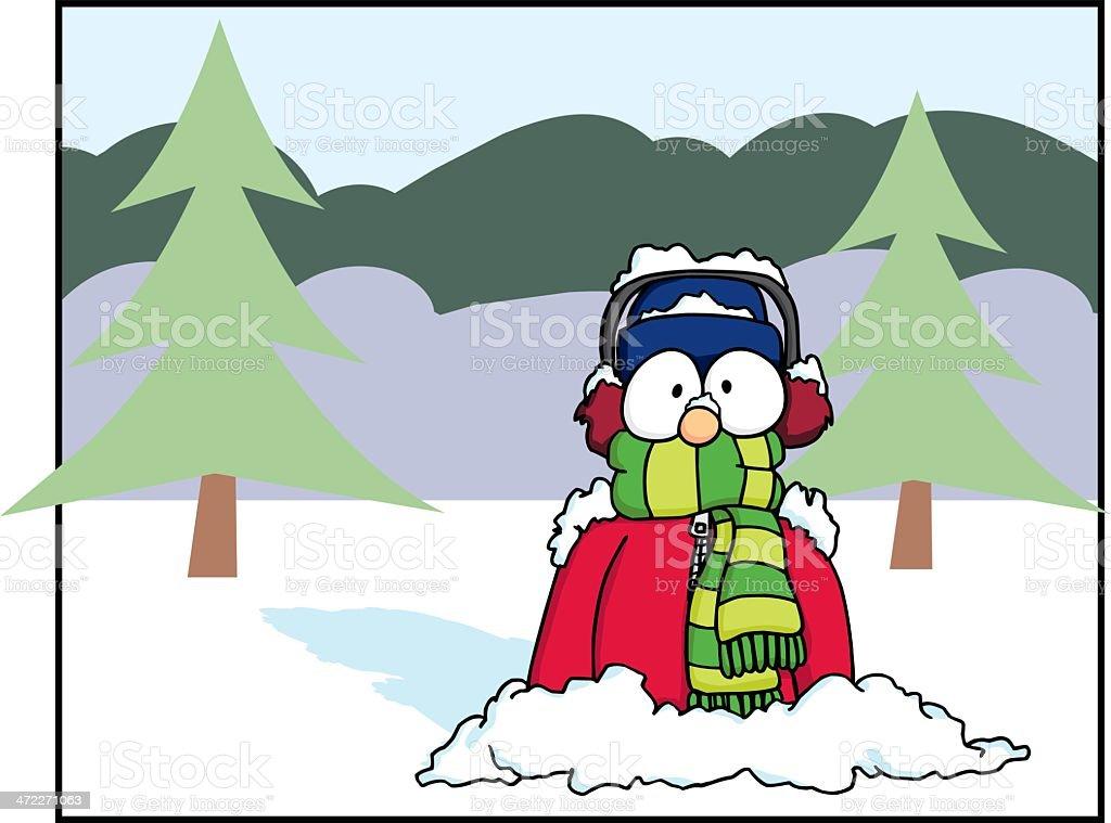 Sudden Snow 1 vector art illustration