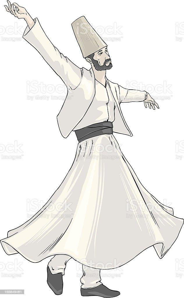 Sufi vector art illustration