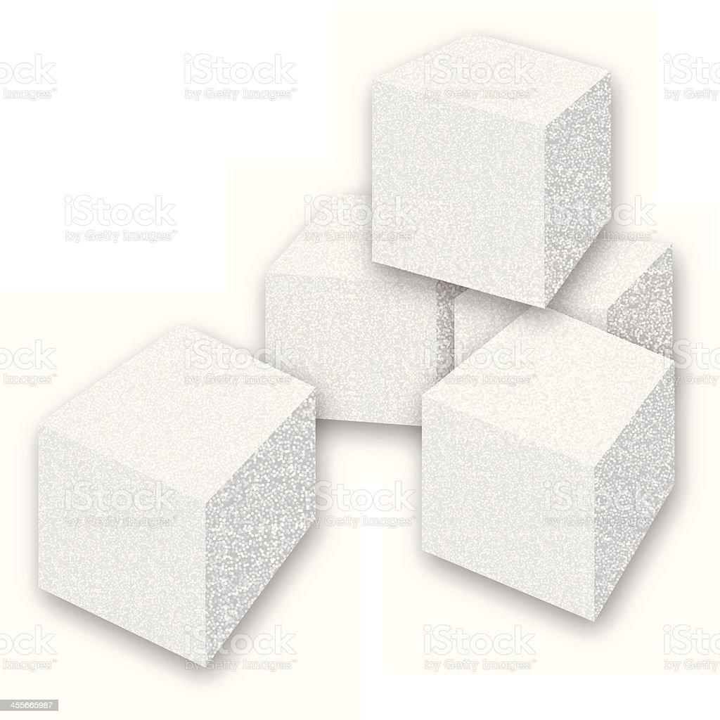 Sugar Cubes vector art illustration