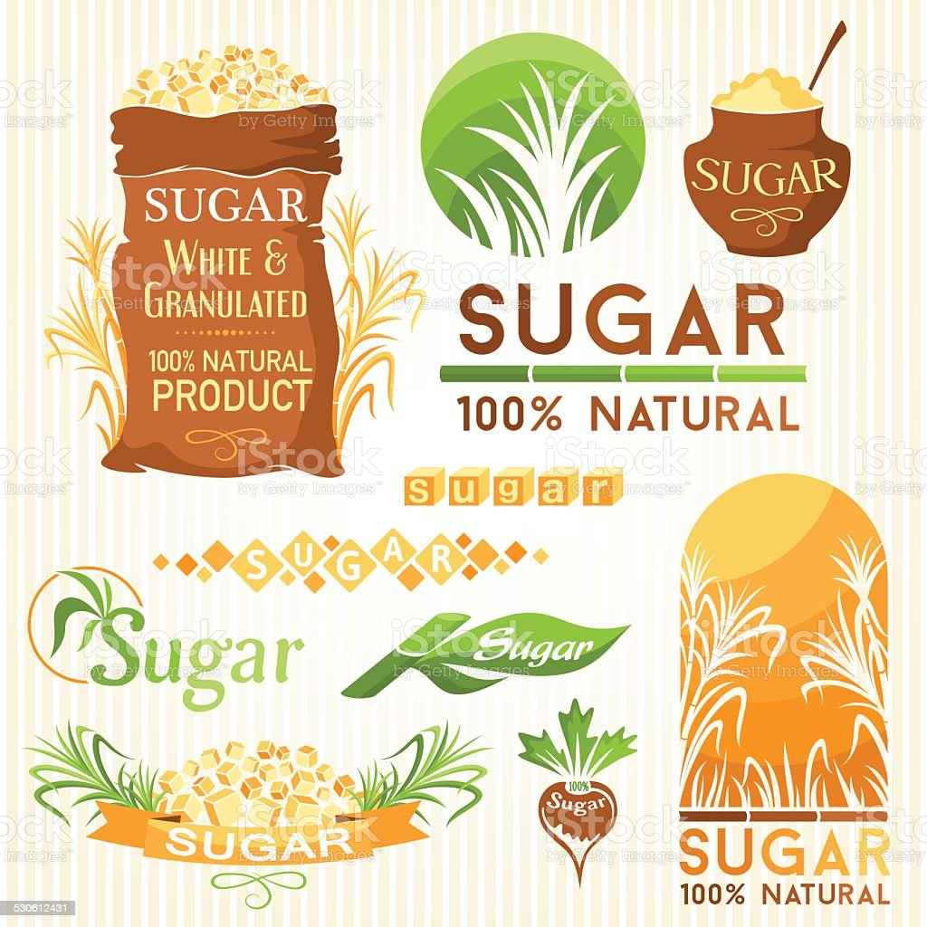 Sugar decorative elements. vector art illustration