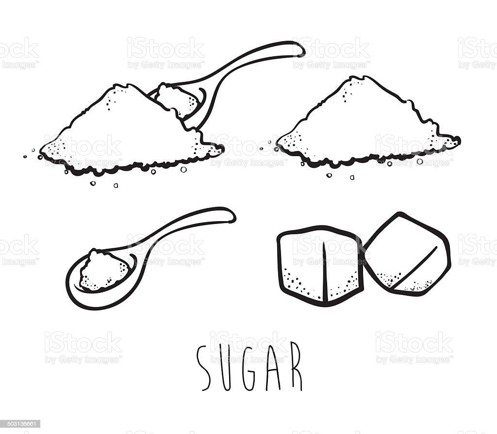 Sugar free design vector art illustration