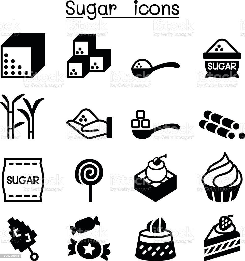 Sugar icon set vector art illustration