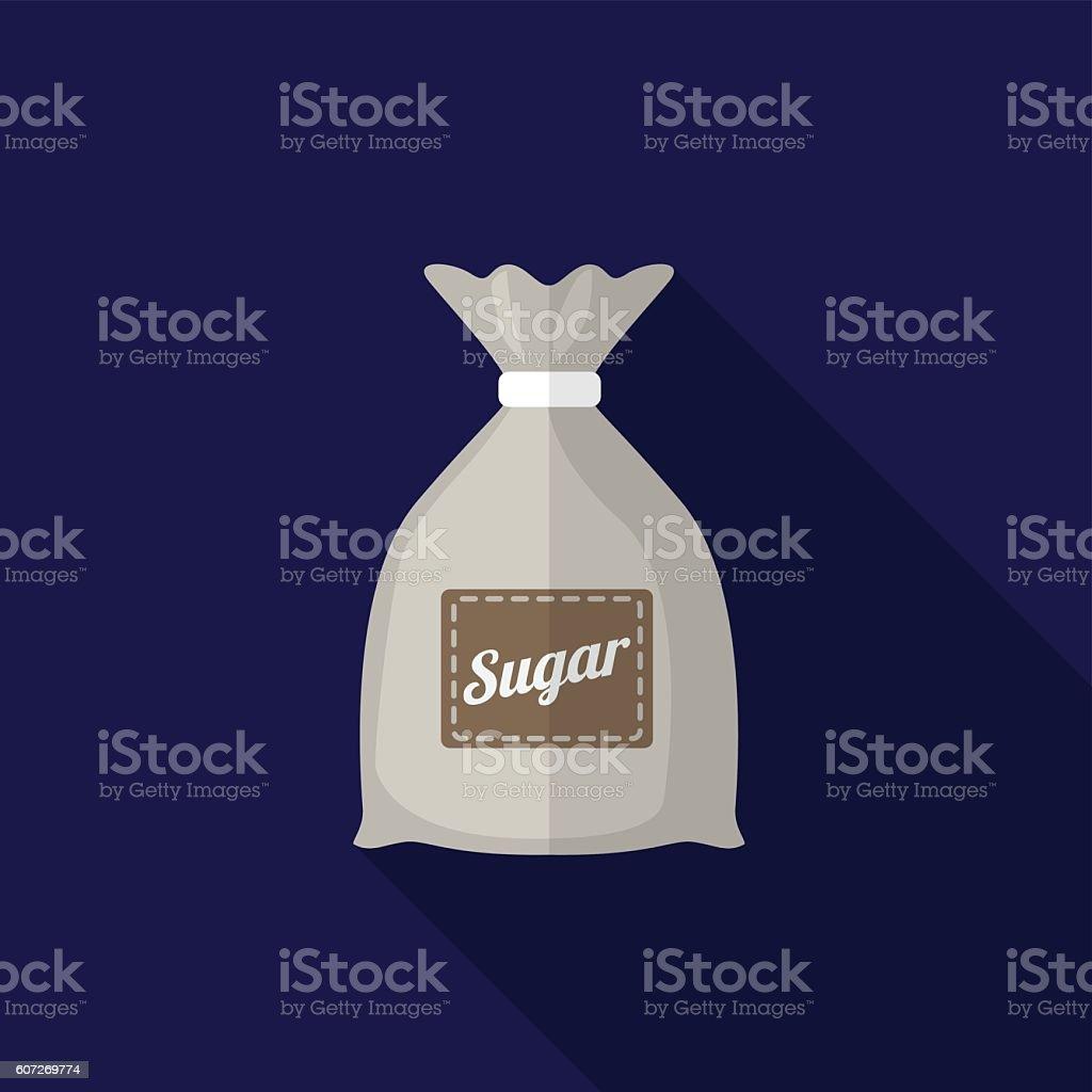 Sugar sack flat icon illustration vector art illustration