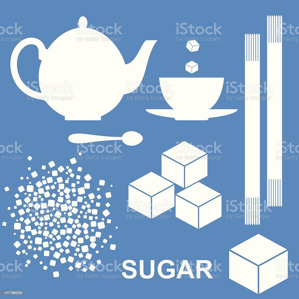 Sugar vector art illustration