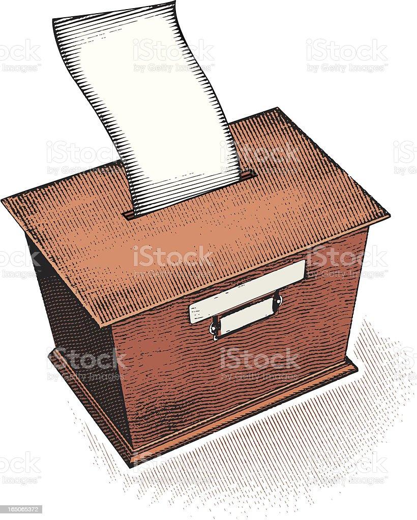 Suggestion/Ballot Box royalty-free stock vector art