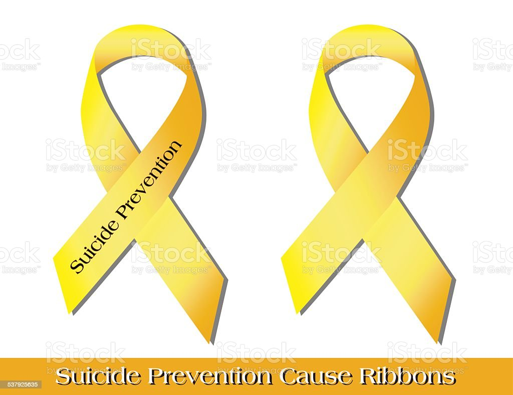 Suicide Prevention Ribbons vector art illustration