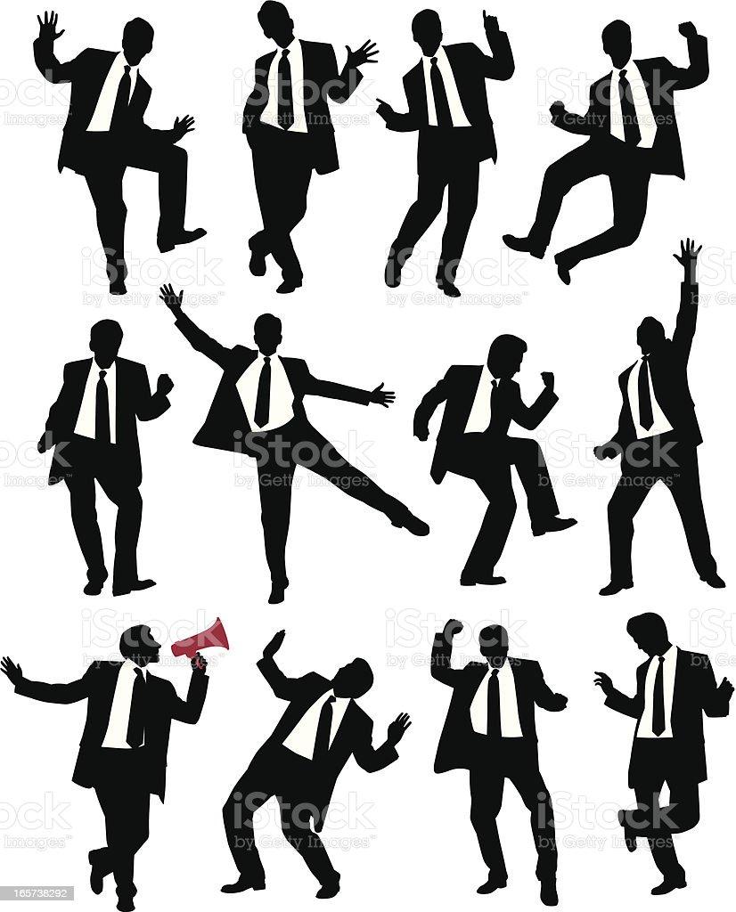 Suit Dance vector art illustration