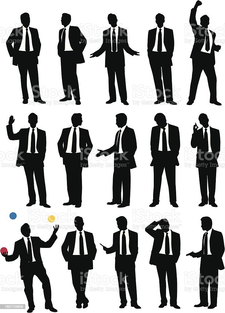 Suit Guy royalty-free stock vector art